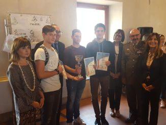 Premiazione dei ragazzi della 5A CAT del Rutelli al Concorso Progetta un Monumento ai caduti